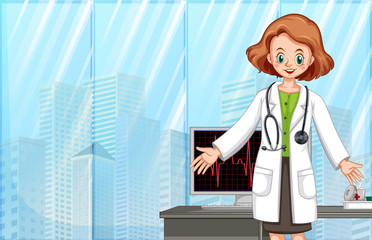 A Doctor in Modern Hospital