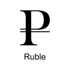 russian ruble icon. Element of currency for mobile concept and web apps. Detailed russian ruble icon can be used for web and mobile. Premium icon