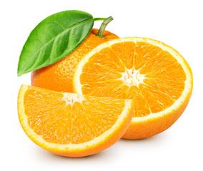 Ripe orange isolated