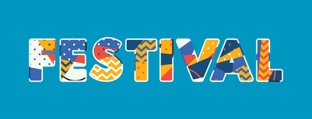 Festival Concept Word Art Illustration