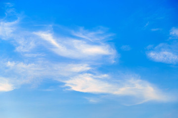 A beautiful clouds on a bright sky.