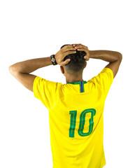 Brazilian fan soccer vibrant person