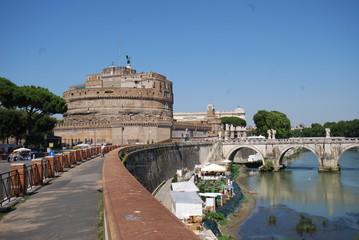 Castel Sant'Angelo; waterway; landmark; sky; bridge