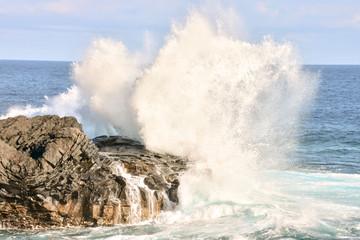 Ocean Coast's Viewsea, ocean, water, wave, nature, blue, splash, coast, rock, surf, storm, spray, beach, power, waves