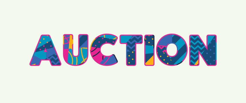 Auction Concept Word Art Illustration