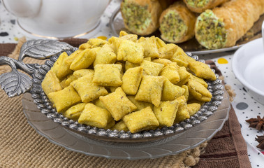 Indian Tea Time Spicy Methi Para Snack Also Know As Namak Para or Namkeen is a Crunchy Savoury Snack of India and Pakistan.