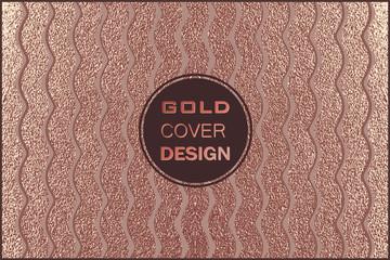 Modern and stylish minimal design. Copper glossy background. Metallic texture. Bronze metal .