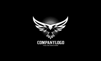 Bird Fly Logo - Eagle Wing Vector