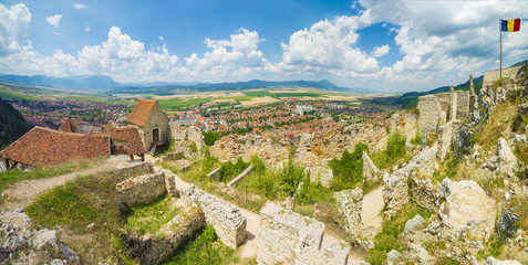 Wall Mural - Medieval fortress of Rasnov, Brasov landmark, Transylvania, Romania .