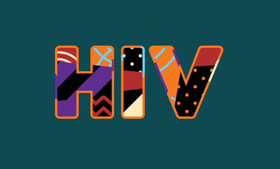 HIV Concept Word Art Illustration