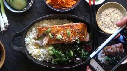 Food Photography Instagram Grilled Salmon Restaurant Meal