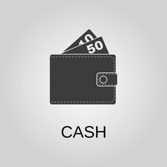 Cash icon. Cash symbol. Flat design. Stock - Vector illustration