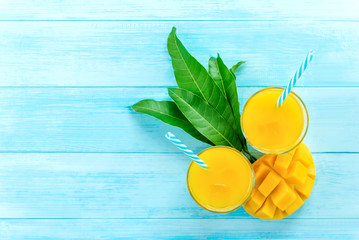 Sweet and sour exotic mango juice drinks