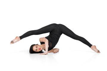 gymnast isolated on white background