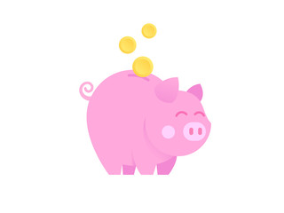 Moneybox in the form of pink pig