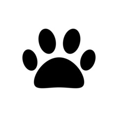 Black dog paw for prints seals and other things