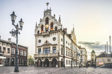 Historic city hall in the center, Rzeszow, Podkarpackie, Poland, Europe