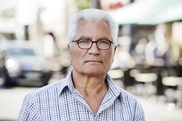 Grey-haired Senior with migration background, native Italian, portrait, Cologne, North Rhine-Westphalia, Germany, Europe