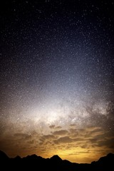Southern starry sky, Drakensberge Blyde Rivercanyon, Mpumalanga, South Africa, Africa