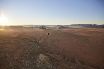 Aerial photo, view from hot air balloon, Tsaris mountains, Kulala Wilderness Reserve, Namib Desert, Hardap Region, Namibia, Africa