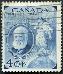 CANADA - 1947: shows Alexander Graham Bell (1847-1922)