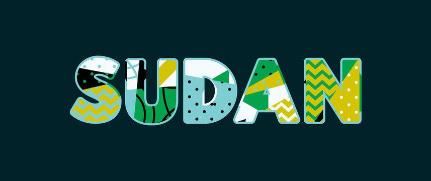 Sudan Concept Word Art Illustration