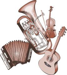 Design of musical instrumentsые RGB