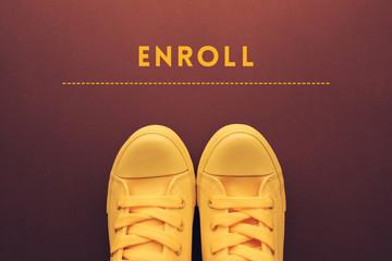 Enroll concept