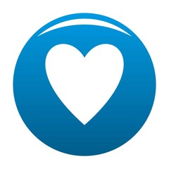 Open heart icon. Simple illustration of open heart vector icon for any design blue
