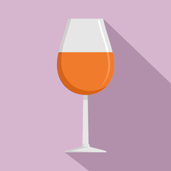 Glass of cognac icon. Flat illustration of glass of cognac vector icon for web design