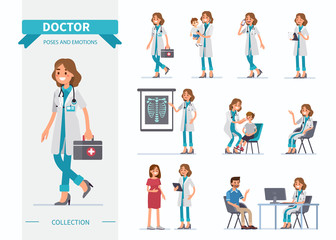 doctor poses