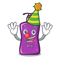 Clown shampo mascot cartoon style