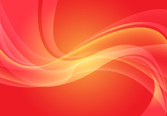 Abstract red yellow wave curve light motion modern futuristic background vector illustration.
