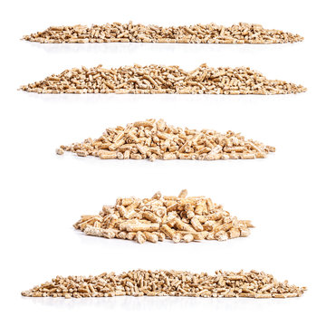 Set of wood pellets