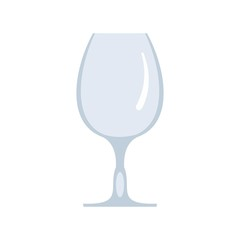 Wineglass icon. Flat illustration of wineglass vector icon for web