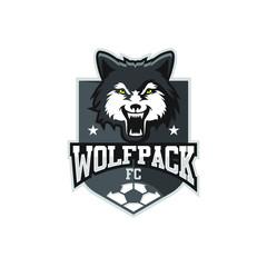 wolf football emblem