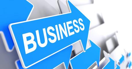 Business - Message on Blue Cursor. 3D.