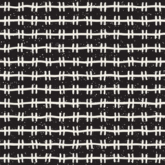 Printed roller blinds Pattern Hand drawn lines seamless grungy pattern. Abstract geometric repeating texture in black and white.
