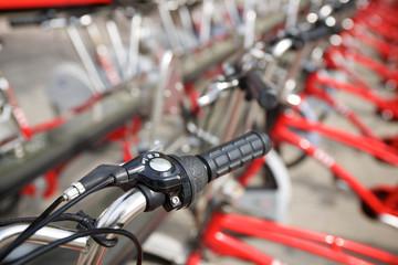 Rental bicycles view