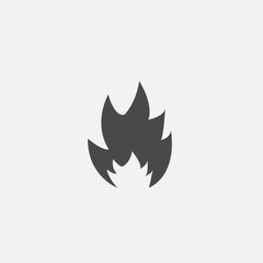 flame vector icon fire symbol