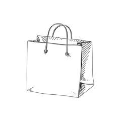 Beautiful vector hand drawn shopping bag Illustration