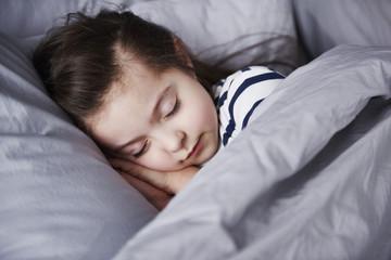 Portrait of sleeping little girl