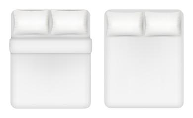 White bedding set vector realistic illustration