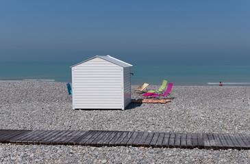 Mers les Bains beach in Picardy coast