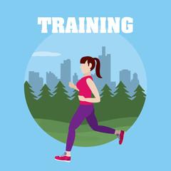 Woman runing training