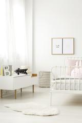 Scandinavian sideboard in child bedroom