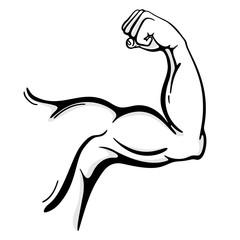 Muscle arm line art