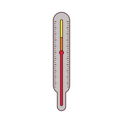thermometer measure temperature icon vector illustration design