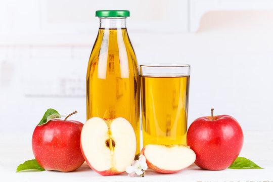 Apfelsaft Apfel Saft Äpfel Flasche Fruchtsaft Textfreiraum Copyspace