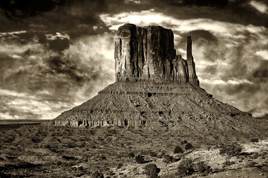 Monument Valley In Black and White